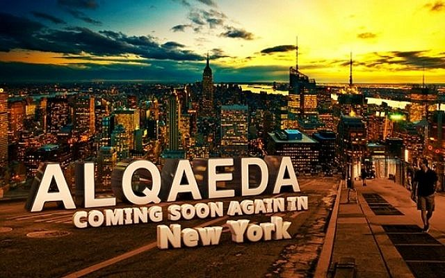 Online graphic warns of al-Qaeda's return to New York City (photo credit: NYPD handout)