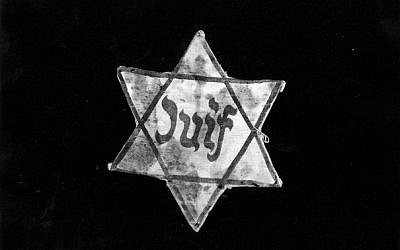 A Jewish star badge from France (Courtesy Yad Vashem)