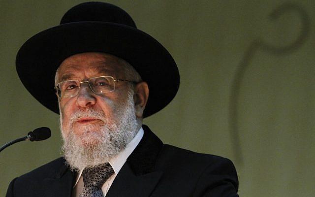 Rabbi Meir Lau (photo credit: Miriam Alster/Flash 90)