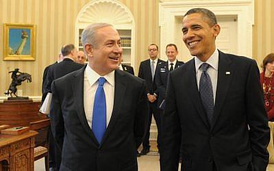 PM Benjamin Netanyahu with US President Barack Obama, March 2012. (photo credit: Amos Ben Gershom/GPO/Flash90)
