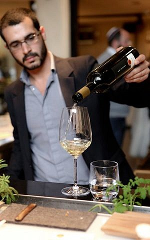 Pouring some Asif (Courtesy Asif Winery)
