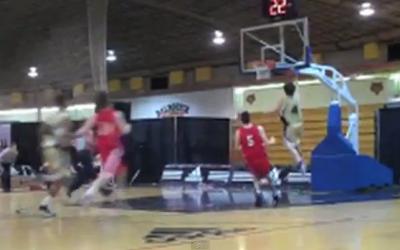 Going up for a basket, #4 (Courtesy Maccabi Haifa via YouTube)