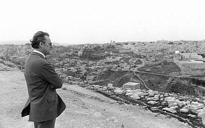Springer in Jerusalem, 1967. (photo credit: Courtesy)