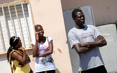 African migrants in south Tel Aviv (illustrative photo: Tomer Neuberg/Flash90)