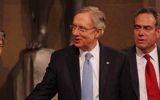 US Senator Minority Leader Harry Reid (photo credit: CC-BY ryanjreilly, Flickr)