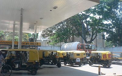A gas station in India. (CC-BY-SA amoeda, Flickr)