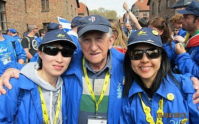Linda Cheung (far right), with members of the Hong Kong mission to March of the Living. (photo credit: Courtesy)