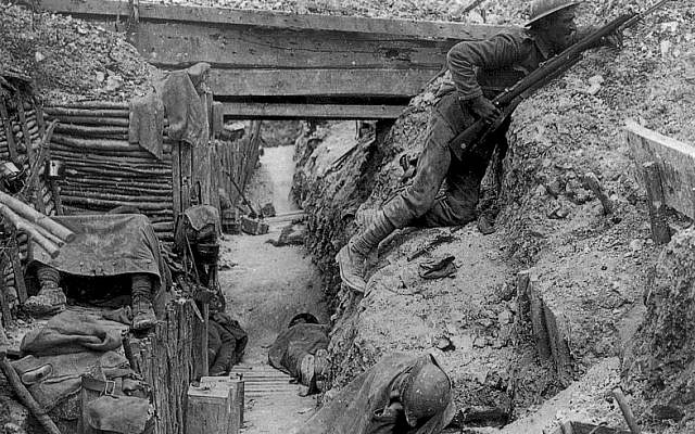 The Cheshire Regiment trench during World War I (photo credit: Wikimedia Commons)