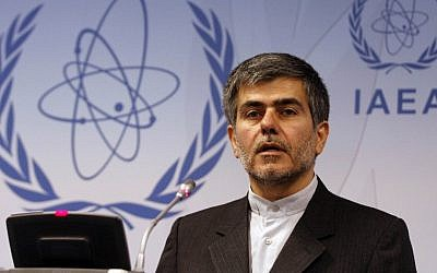 Fereydoon Abbasi Davani, Iran's vice president and head of the country's Atomic Energy Organization (photo credit: Ronald Zak/AP)