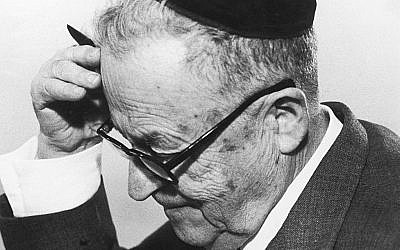 Israeli author and Nobel laureate S.Y. Agnon.  (Courtesy Agnon House/JTA)