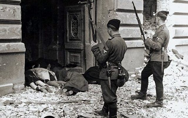Warsaw Ghetto Uprising, Photo from Jurgen Stroop Report to Heinrich Himmler from May 1943 (photo credit: Wikimedia Commons)
