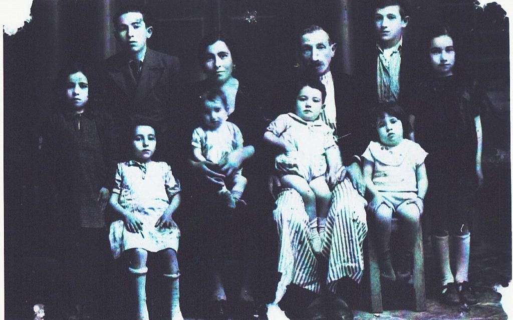 The Baghdadis, a Jewish family in Aleppo, Syria, around 1940. In Aleppo, and in other cities and towns across north Africa and the Middle East, some 850,000 Jews were pushed out of their homes beginning in the mid-20th century. (Courtesy of Asher Ron)