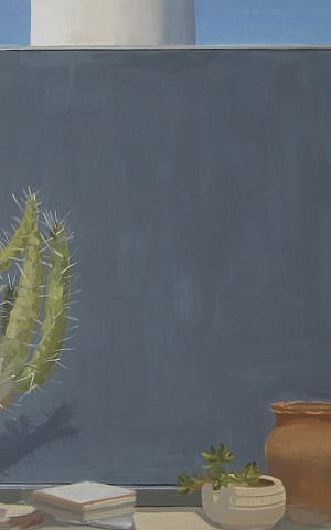 Cactus, 2012, oil on canvas, 17.5 in. x 17.5 in. (Courtesy Abraham Storer)