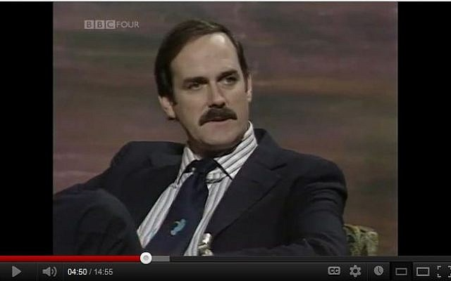 John Cleese during his Monty Python days. (screen capture: Youtube)