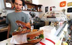 The matias sandwich at Devotchka Sandwich Bar (photo credit: David Katz)