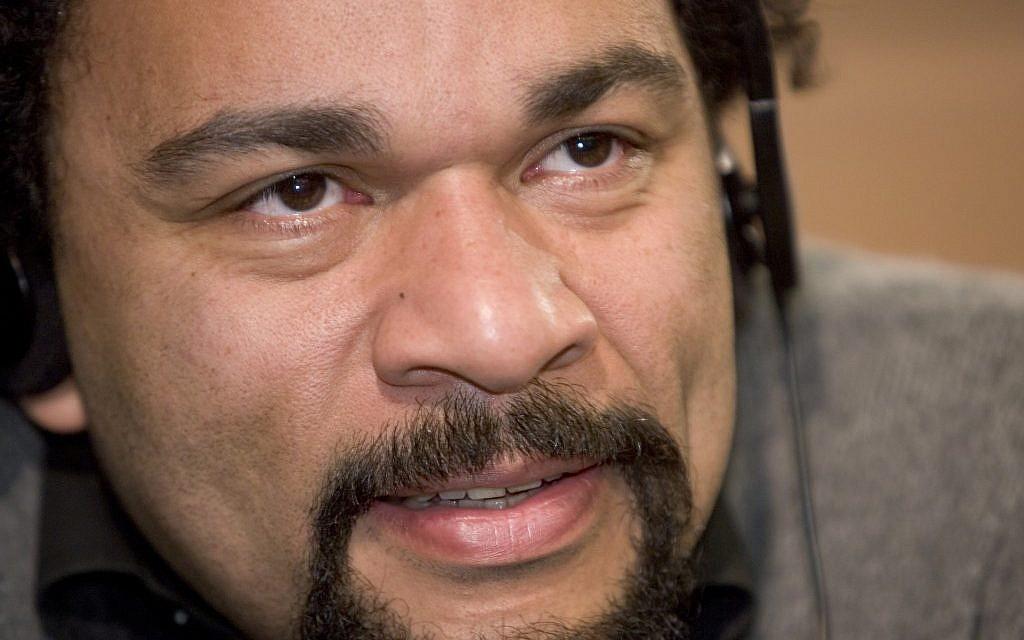 Actor and activist Dieudonné M'bala M'bala (photo credit: CC BY-SA Réseau Voltaire, Wikimedia Commons)
