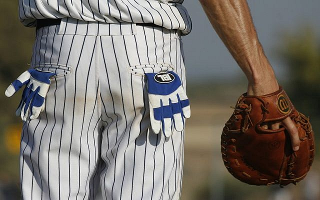An Israeli Baseball League player in 2007 (photo credit: Nati Shohat/Flash90)