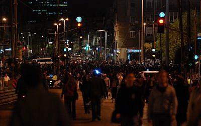 Night life on Ibn Gvirol Street in Tel Aviv. (photo credit: Gili Yaari/Flash 90)
