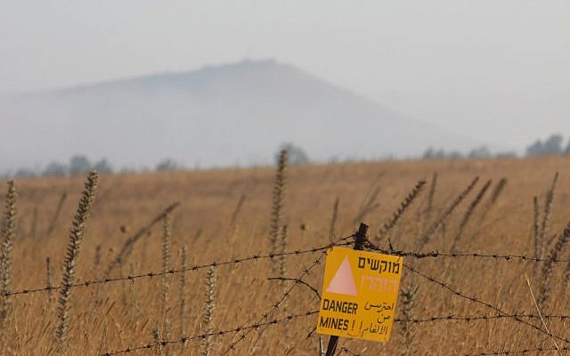 Illustrative photo of a minefield in northern Israel (photo credit: Yossi Zamir/Flash90)