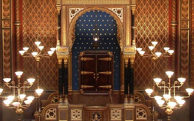 The Spanish Synagogue in Prague. (photo credit: Rachael Cerrotti/Flash90)