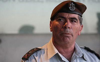Gabi Ashkenazi, then IDF chief of staff, in October 2010 (photo credit: Kobi Gideon/Flash90)