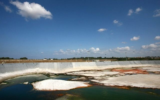 A sewage treatment facility in Israel (photo credit: Chen Leopold/Flash90)