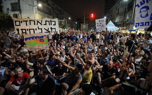 Thousands of social protesters demonstrate in Tel Aviv in the summer of 2011. (Gili Yaari/Flash90)