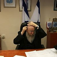Then-deputy health minister Yaakov Litzman in 2011. (Kobi Gideon/Flash90)