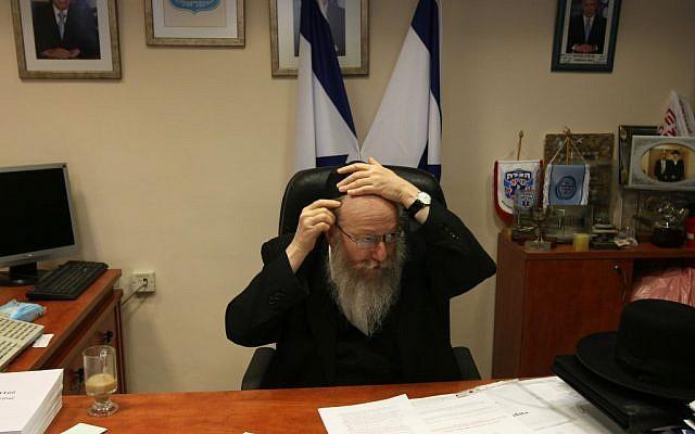 Then-deputy health minister Yaakov Litzman in 2011. (photo credit: Kobi Gideon/Flash90)