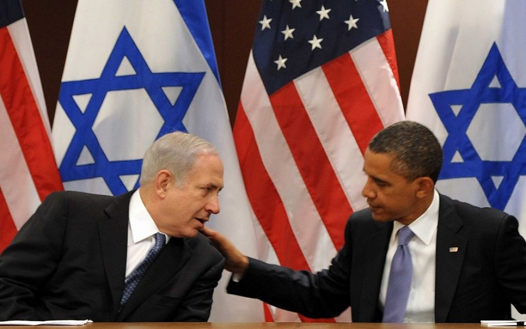 Prime Minister Benjamin Netanyahu and US President Barack Obama in New York, September 21, 2011 (photo credit: Avi Ohayon/GPO/Flash90)