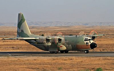 Israeli air force Lockheed C-130 Hercules. June 28 2011 (photo by Ofer Zidon/Flash90)