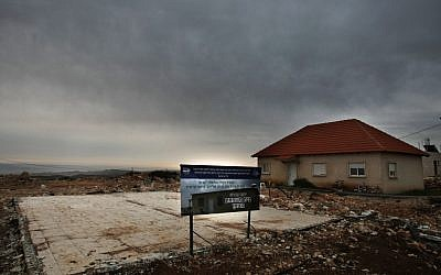 The West Bank outpost of Migron, set for evacuation by August 1. (photo credit: Kobi Gideon/Flash90)