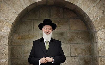 Chief Ashkenazi Rabbi of Israel Rabbi Yona Metzger (photo credit: Miriam Alster/Flash90)