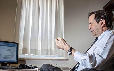 Former deputy prime minister Dan Meridor (photo credit: Noam Moskowitz/Flash90)