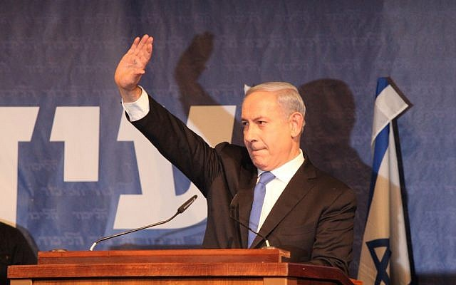 Benjamin Netanyahu addresses members of the Likud party on Sunday (photo credit: Yossi Zeliger/Flash90)