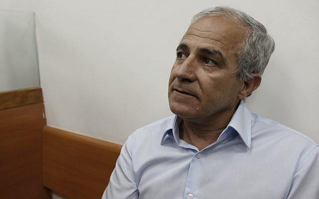 Kiryat Malachi Mayor Motti Malka in a court hearing on May 9. (photo credit: Tsafrir Abayov/Flash90)