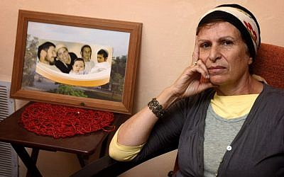Tali Ben Yishai, mother of Ruth Fogel. Ruth was murdered together with her husband and three children last year in the  settlement of Itamar (photo credit: Miriam Alster/Flash90)