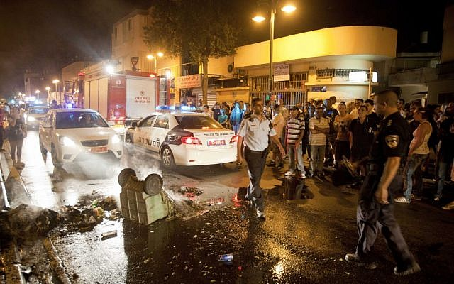 South Tel Aviv after Wednesday night's protest. (photo credit: Tali Mayer/Flash90)