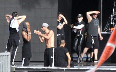Paparazzi staking out Madonna's MDNA rehearsals (photo credit: Yonatan Sindel/Flash 90)