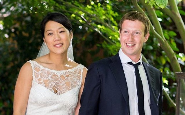 Facebook founder and CEO Mark Zuckerberg and Priscilla Chan at their wedding ceremony in Palo Alto, Calif., Saturday, May 19, 2012 (AP/Facebook, Allyson Magda Photography)