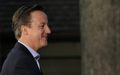 British Prime Minister David Cameron (photo credit: AP/Charles Dharapak)