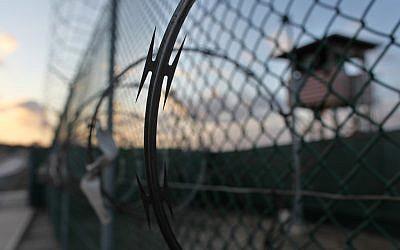 Guantanamo detention facility (photo credit: AP/Brennan Linsley)