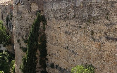 The wall surrounding Girona's Old City. (photo credit: courtesy)