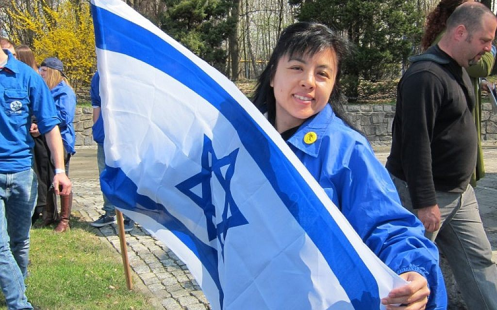 Hong Kong Protestant Linda Cheung on March of the Living. (photo credit: Courtesy)