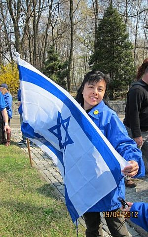 Linda Cheung, a Hong Kong Protestant, on March of the Living (photo credit: Courtesy)