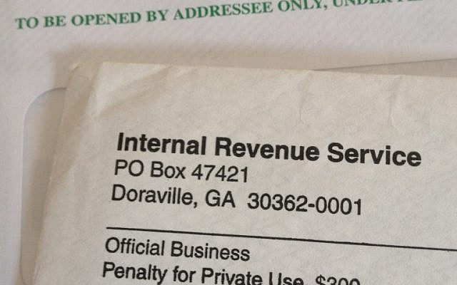 The dreaded IRS envelope (photo credit: Jessica Steinberg)