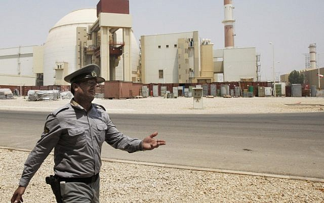 A 2010 file photo of the Bushehr nuclear power plant in Iran. (photo credit:AP/Vahid Salemi)