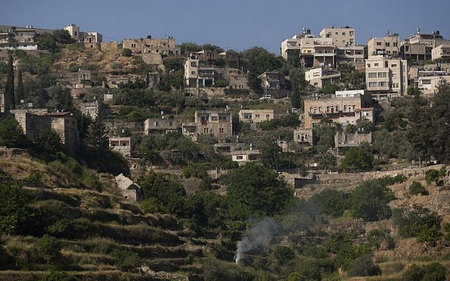 The West Bank village of Battir, one of the last farming villages to use irrigation systems from Roman times (photo credit: AP/Sebastian Scheiner)