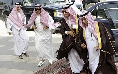 Saudi foreign minister Saud Al-Faysal in Riyadh to discuss Gulf unity May 13 (photo credit: AP Photo/Hassan Ammar)