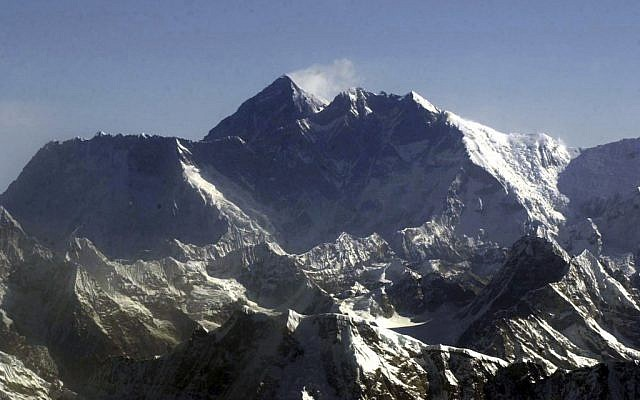 Mount Everest (photo credit: AP/Binod Joshi)